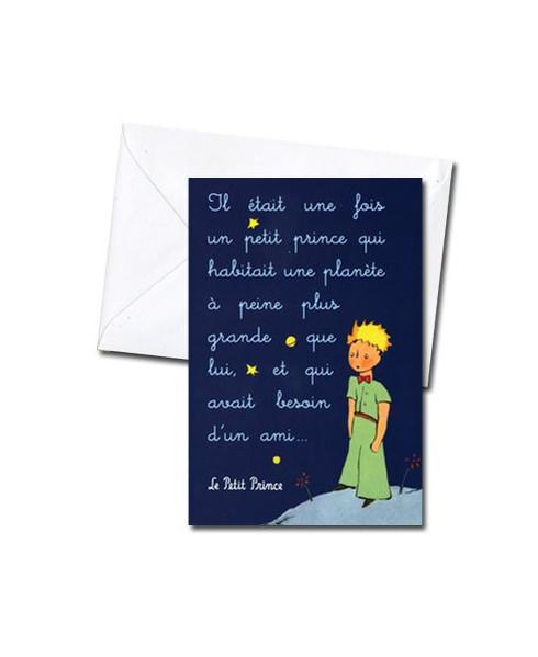 Carte double Petit Prince : Il était une fois...