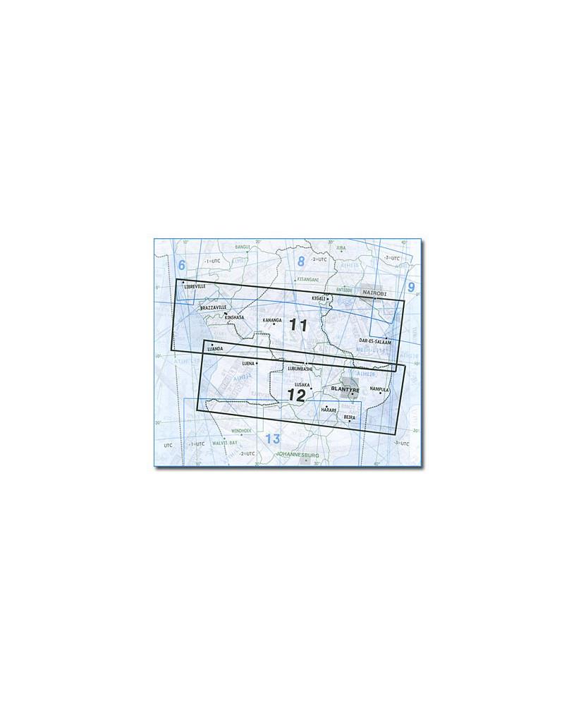 Carte Jeppesen Afrique En Route haute et basse altitude A(H/L) 11/12