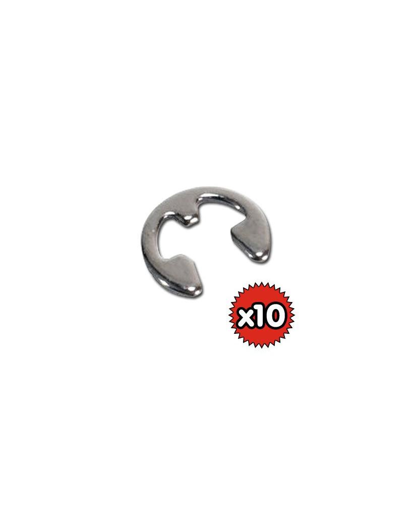 Lot de 10 anneaux élastiques pour support écouteur David Clark
