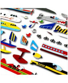 100 gommettes autocollantes : les avions