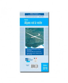 Carte de vol à voile sur les Alpes - S.I.A. 2018