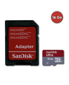 Carte microSD HC 16 Go pour caméra GoPro