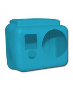 Coque de protection silicone bleue pour caméra GoPro