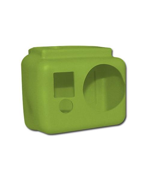Coque de protection silicone verte pour caméra GoPro