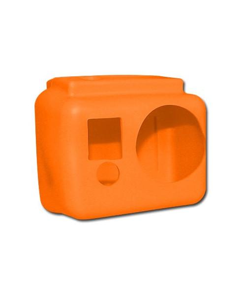 Coque de protection silicone orange pour caméra GoPro