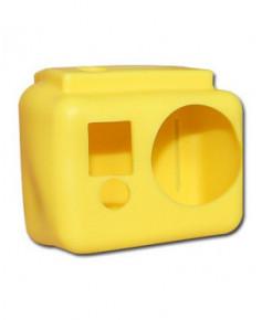 Coque de protection silicone jaune pour caméra GoPro