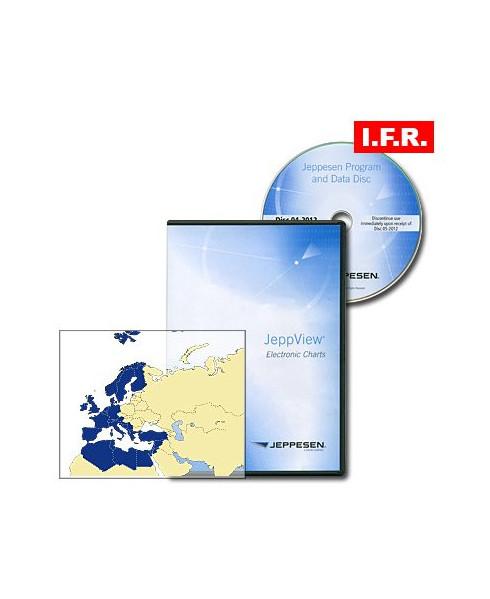 Logiciel et abonnement annuel Jeppview I F R  pour l'Europe et la  Méditerranée