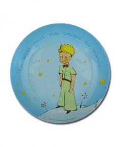Grande assiette Petit Prince bleue (nouvelle collection)