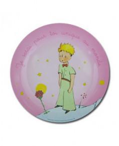 Grande assiette Petit Prince rose (nouvelle collection)
