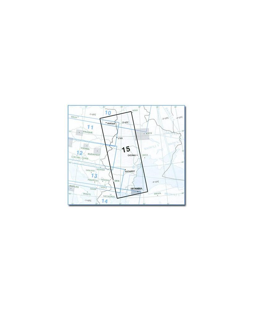 Carte Jeppesen Europe En Route basse altitude E(LO) 15