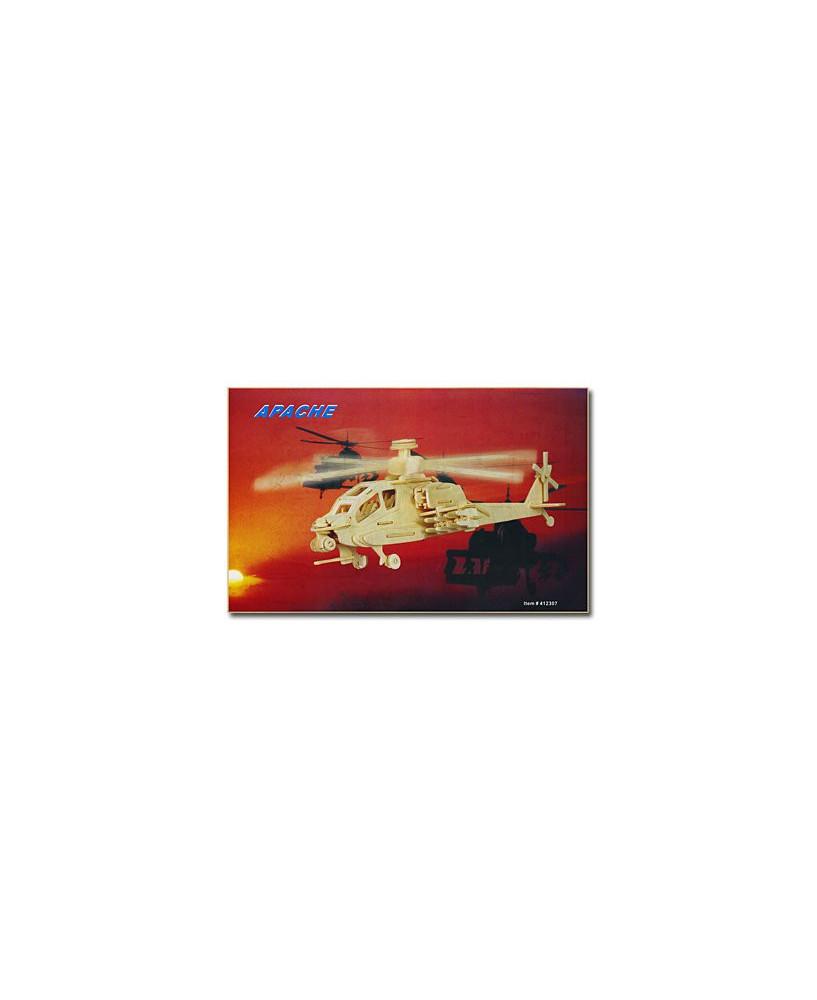 Hélicoptère Apache en bois à monter