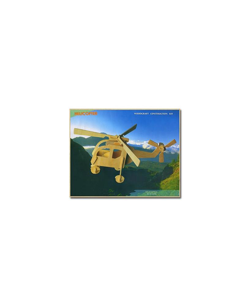Hélicoptère en bois à monter - Modèle 1