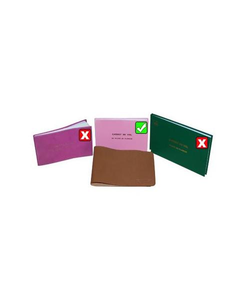 Protège carnet de vol planeur cuir Aviation Passion (cuivre)