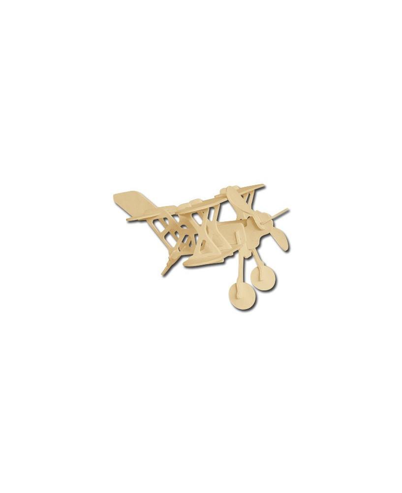 Petit avion en bois à monter - Biplan