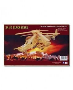 Hélicoptère KA50 en bois à monter