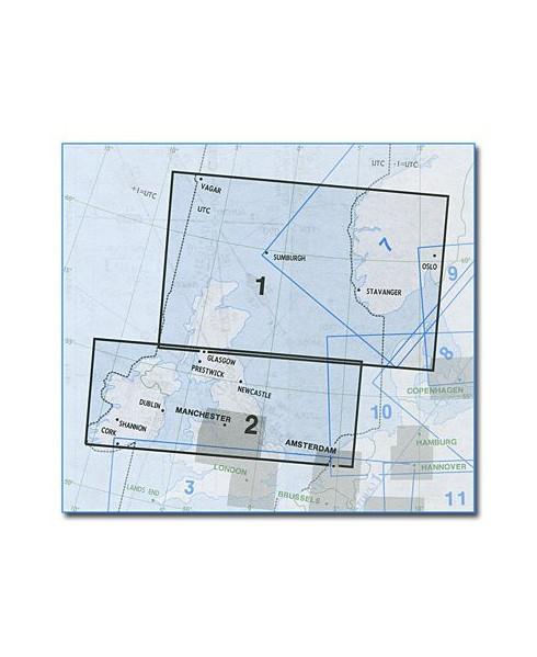 Carte Jeppesen Europe En Route basse altitude E(LO) 1/2