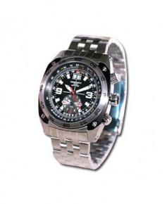 Montre Torgoen T07 201 - boîtier acier, cadran noir et bracelet acier