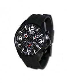 Montre Torgoen T16 302 - boîtier noir, cadran carbone et bracelet noir en caoutchouc