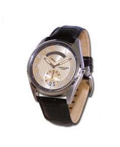 Montre Torgoen T29 102 - boîtier acier, cadran beige et bracelet marron en cuir