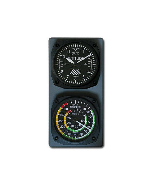 Console horloge altimètre / thermomètre anémomètre classiques