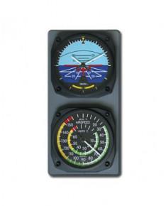 Console horloge horizon artificiel / thermomètre anémomètre classiques