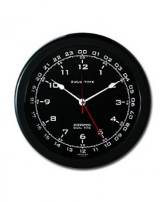 Horloge avec heure U.T.C. - fond noir