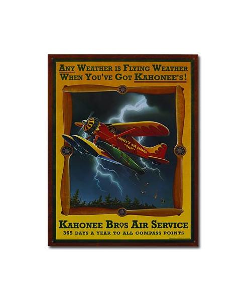 Plaque décorative Kahonee Bros Air Service (30 x 40 cm)