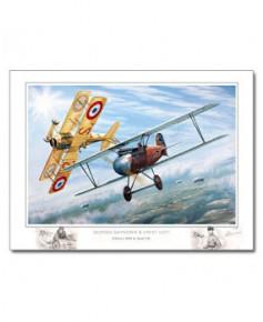 Poster Albatros DIII et Spad VII