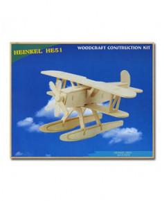Petit avion en bois à monter - Heinkel HE51