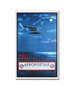Affiche Aéropostale A mais rapida Europa, Africa, Sul America grande taille