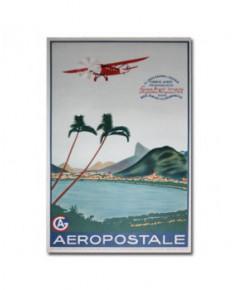 Affiche Aéropostale Europa - Brazil - Uruguay - Argentina - Paraguay - Chile