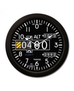 Horloge ronde altimètre moderne