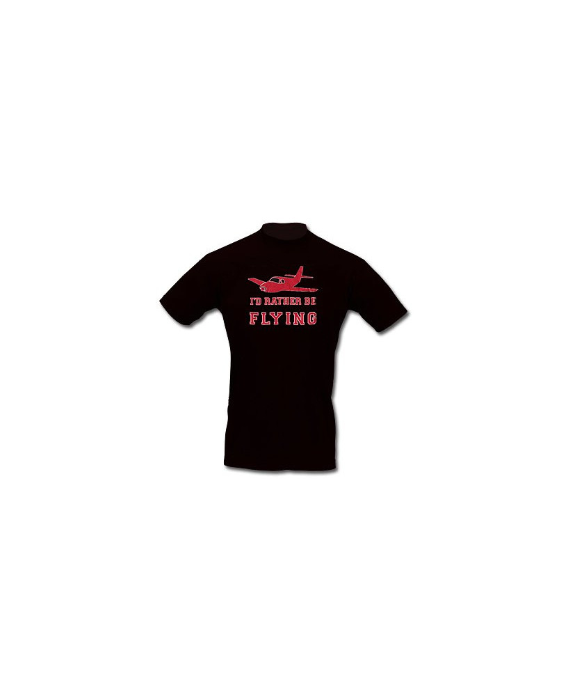 Tee-shirt I'd rather be flying - Taille L