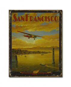 Plaque décorative San Francisco (31 x 40 cm)