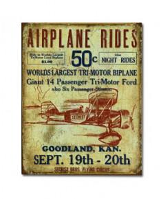 Plaque décorative Airplane Rides (31 x 40 cm)