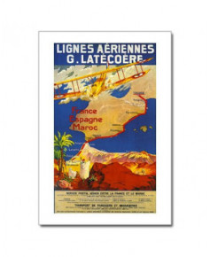 Carte postale Lignes aériennes G. Latécoère - France, Espagne, Maroc