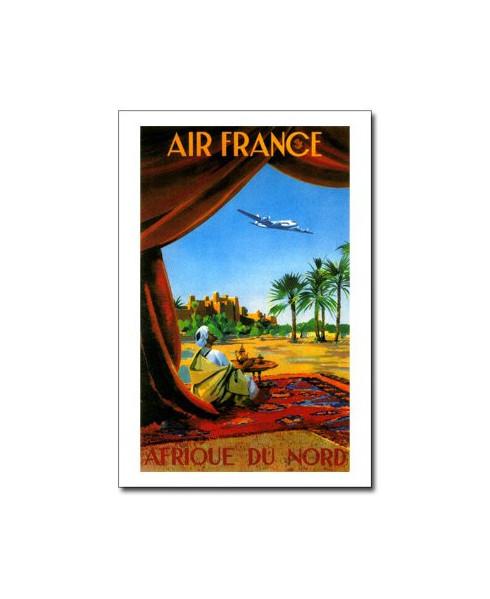 Carte postale Air France, Afrique du Nord