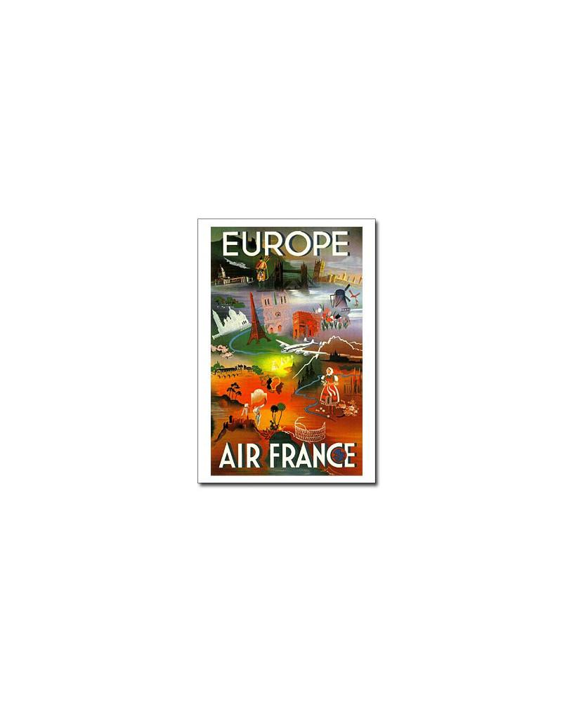 Carte postale Air France, Europe