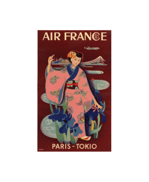 Carte postale Air France, Paris-Tokio