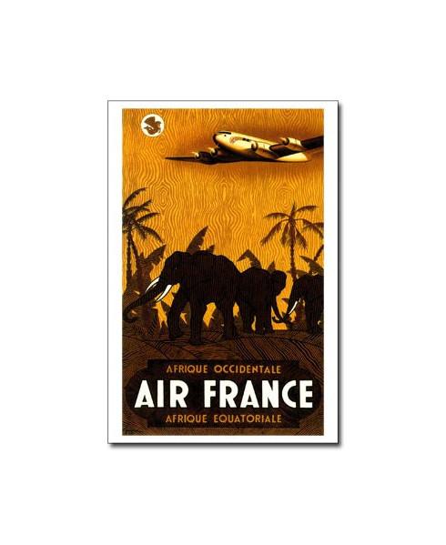 Carte postale Air France, Afrique occidentale / Afrique équatoriale
