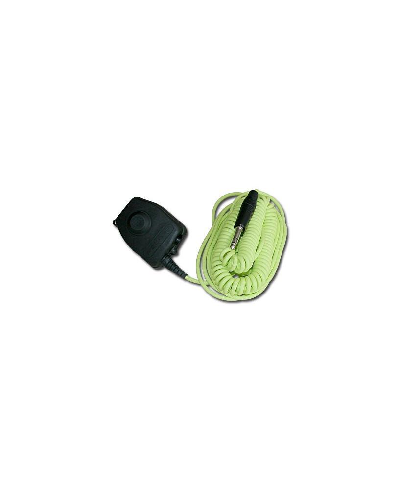 Câble Push-to-talk pour casque sol Peltor (6 m.)