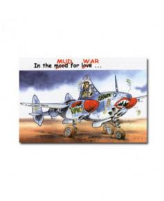 Carte postale humoristique Lockheed P38 / F5A Lightning