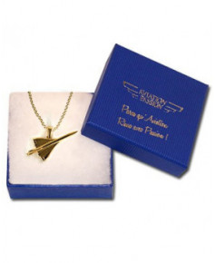 Pendentif Concorde plaqué or avec chaîne