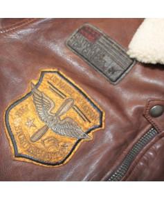 Blouson cuir marron Mythic  - Taille S