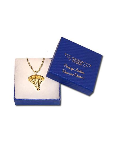 Pendentif Parapente plaqué or avec chaîne