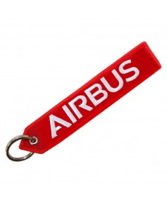 """Porte-clés rouge """"We make it fly"""" / Airbus"""