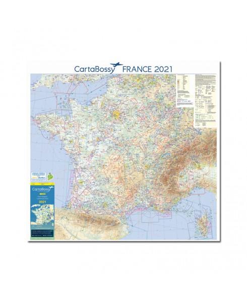 Carte 2021 1/1 000 000e MURALE V.F.R. France jour - Cartabossy