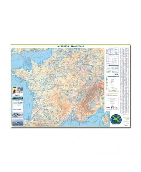 Carte 2021 1/1 000 000e MURALE V.F.R. France jour - Air Million
