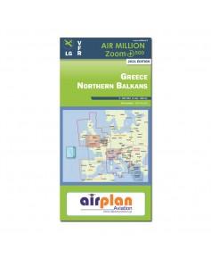 Carte 2021 1/500 000e V.F.R. Nord de la Grèce Air Million Zoom