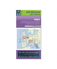 Carte 2021 1/1 000 000e V.F.R. Italie Air Million